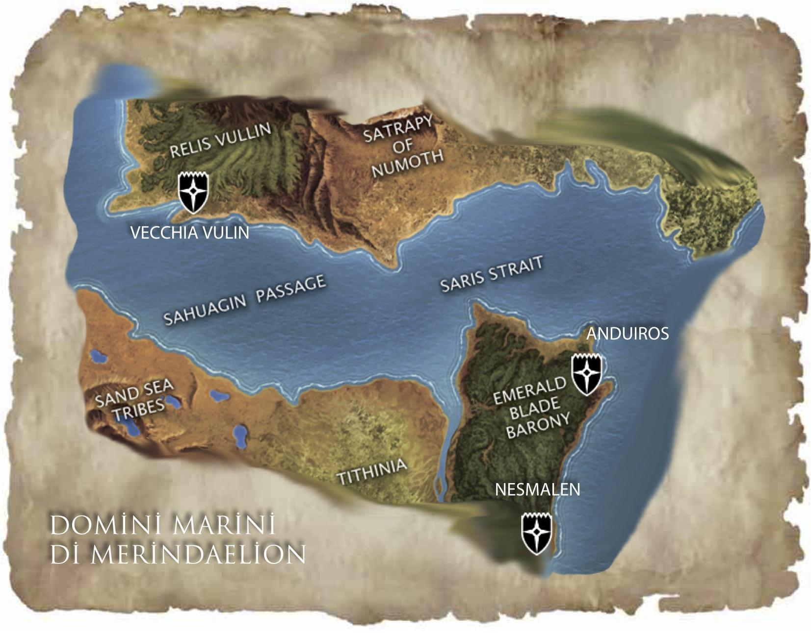 Map - Domini Marini di Merindaelion