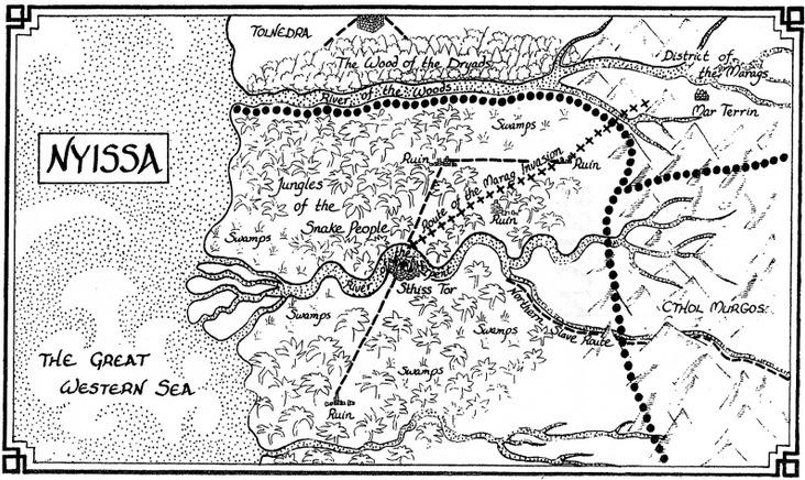 Mappa di Nyissa